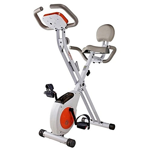 Fantastic Deal! Ewha Foldable Magnetic Slim Exercise X-Bike Folding Double Transmission Upright Fitn...