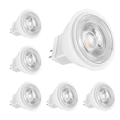 MR11 LED 12V 4W, Entspricht 40W Halogen, GU4 Warmweiß 3000K, 380LM, Scheinwerfer-LED-Lampen, Nicht dimmbar, 6er-Pack, CHEERBEE