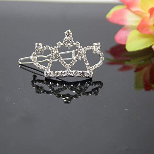 Simple Rhinestone Crown Tiara Children's Card Accessories Cat and Dog Supplies Pet Hair Clips