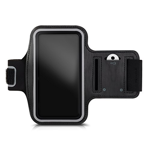 kwmobile Brazalete Deportivo para Sony Smartphone - Cinta para móvil de TPU - Correa para Brazo en Negro