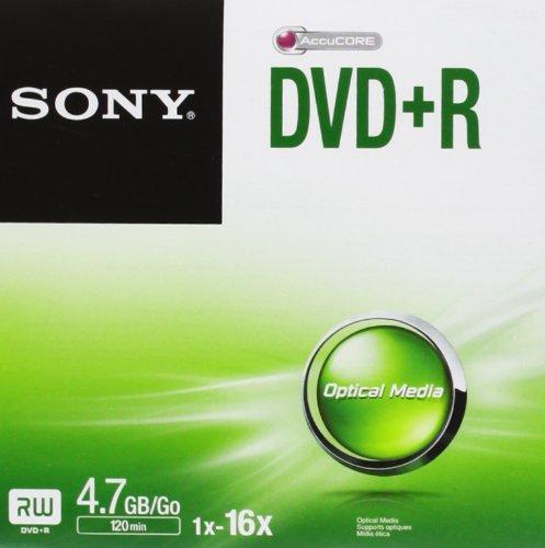 Sony DVD+r DPR47SJ Jewel CASE 16X DVD-Rohling