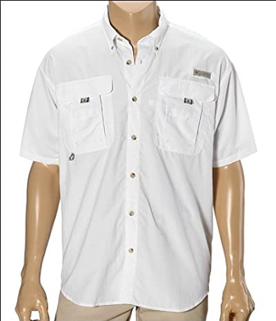 Columbia Bahama II Short Sleeve Shirt (White) Men