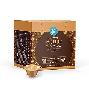 Marca Amazon - Happy Belly - Cápsulas de Café Au Lait compatibles con NESCAFÉ® Dolce Gusto®, UTZ, 3x16 cápsulas (48 porciones)