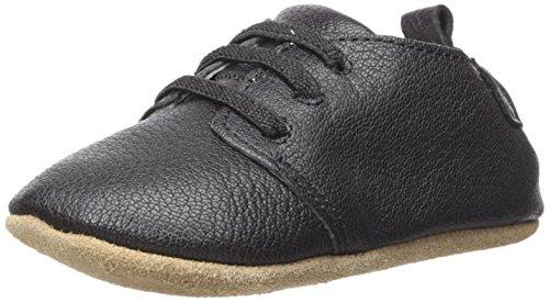 Robeez Boys Oxford Crib Shoe, Owen-Black, 18-24 Months M US Infant
