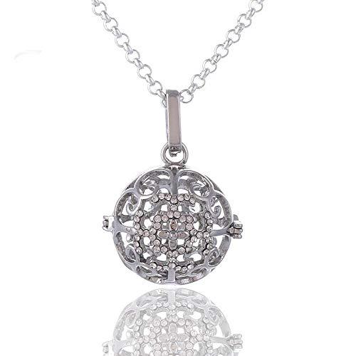 Aromatherapie-Anhänger Blume Symbol Ätherisches Öl Parfüm Diffusor Halskette Klavier Perlen Lange Pullover Kette