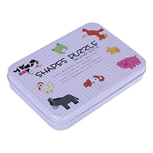 Fdit Rompecabezas de Madera Educativo Niños Juguetes de Aprendizaje Temprano Set Regalo con Caja de Almacenamiento(Animal de Granja)