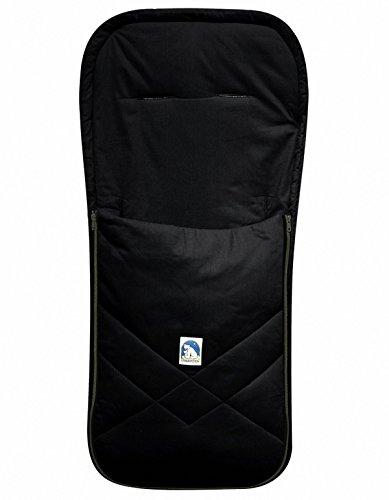 HEITMANN Baby Sommer Fußsack mit Baumwolle schwarz, waschbar, für Kinderwagen, Buggy, ca. 94x42 cm