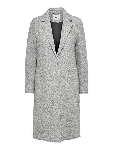 ONLY Female Mantel Klassischer Woll Slight Grey Melange