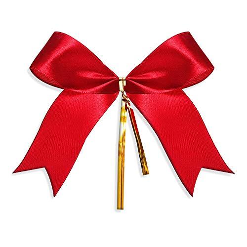 Gudotra 100pz Fiocco di Natale Rosso Addobbi Ornamento Albero di Natale Decorazione Natalizia
