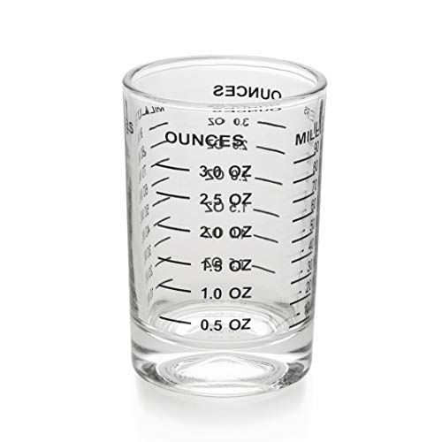 Shot Glass Measuring Cup 3 Ounce/90ML Liquid Heavy High Espresso Glass Cup Black Line