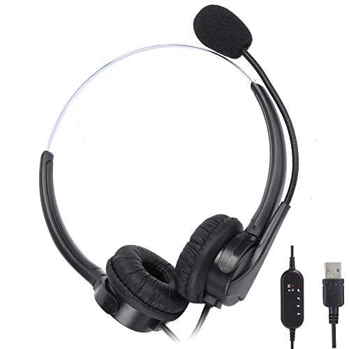 ヘッドフォンイヤホンUSBノイズリダクションゲーミングオーディオビジュアルヘッドセット用の人間工学に基づいたヘッドセット