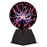 Gresus Big Size Magic Plasma Ball Lamp - Touch & Sound Sensitive Interactive USB Powered Plasma Lamp Nebula Sphere Globe