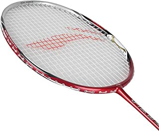 Li Ning Badminton Racket Player Edition Light Weight Carbon Graphite Shaft 80+ Gms with Full Carrying Bag Cover