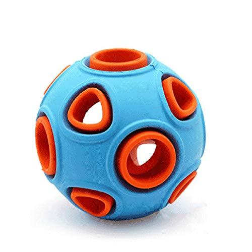 Perro de juguete con sonido, con la bola de Bell, la mordedura de plástico resistente, Suministros de adiestramiento de mascotas, disponible por grandes, medianos y pequeños perros ( Size : Small )