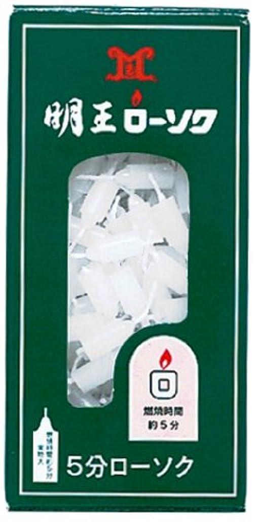 柔らかさ調整するシエスタマルエス 明王ローソク 5分ローソク 90g