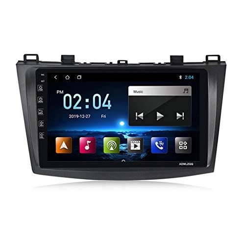ADMLZQQ para Mazda 3 2010-2012 Estéreo De Automóvil Navegacion GPS, Pantalla Táctil De 9 Pulgadas, 4 Núcleos Android 9.0, FM/Bluetooth/Cámara Trasera/Controles del Volante,M150 2g+32g