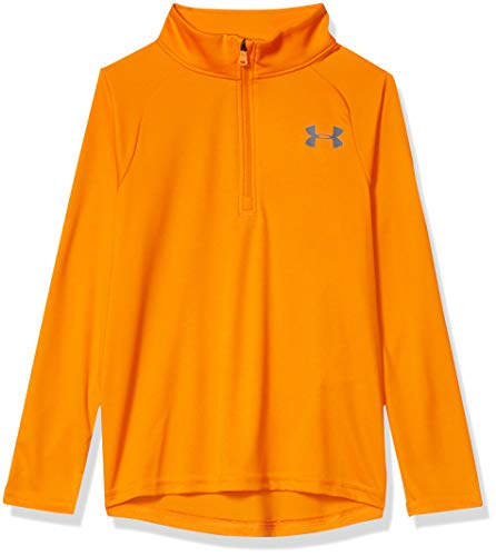 Under Armour Kids Boys' Tech 2.0 1/2 Zip, Persimmon (844)/Pitch Gray, Youth Large