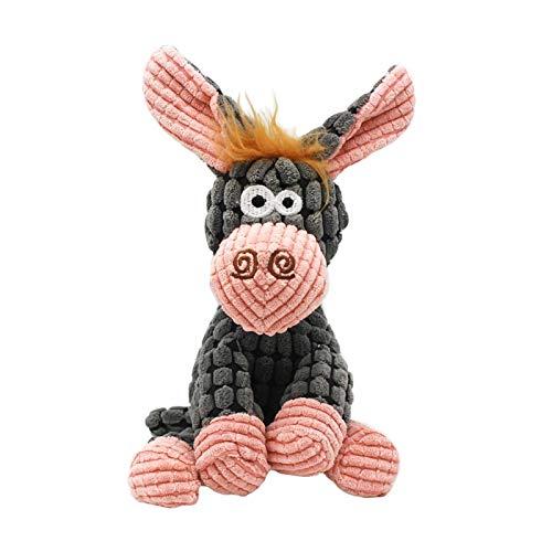 WWWL Juguetes suaves Juguetes para perros Juguetes de peluche burro chirriando juguete para mascotas lindo rompecabezas de peluche juguete interactivo para perros gato masticador Squeaky Pet Toy