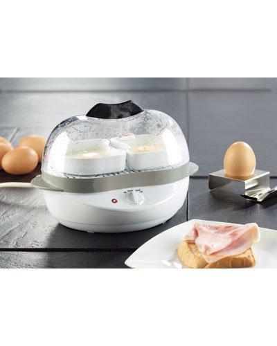 Rosenstein & Söhne Eikocher: 2in1-Eierkocher mit Warmhalte-Funktion, 400 Watt, 6 Eier oder Rührei (Egg Boiler)