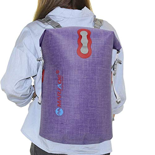 Mochila de bolsa seca a prueba de agua, mochila impermeable Viaje al aire libre bolso seco Organizador de engranajes de pesca, saco seco para la playa, rafting, navegación, senderismo, camping y pesca