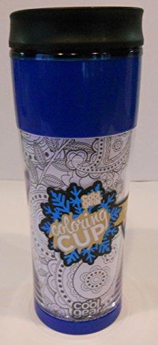 Coloring Coffee Travel Mug - Blue 14 Fl oz
