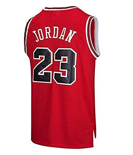 Zxwzzz Los Hombres del Jersey, No.23 NBA Michael Jordan Bulls Retro Jugadores De Baloncesto Jersey, Transpirable Usable Camiseta Bordada (Color : Red, Size : Small)