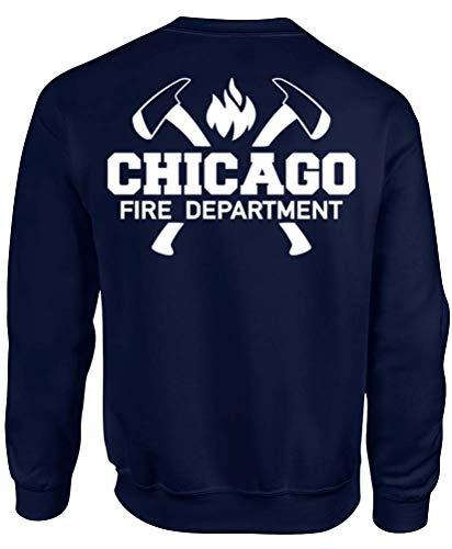 Chicago Fire Dept. - Sweatshirt mit Axt-Motiv (XL)
