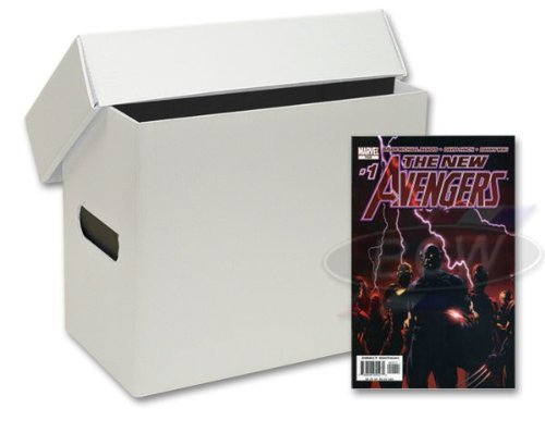 10 Short Plastic Comic Book Storage Boxes - White by BCW