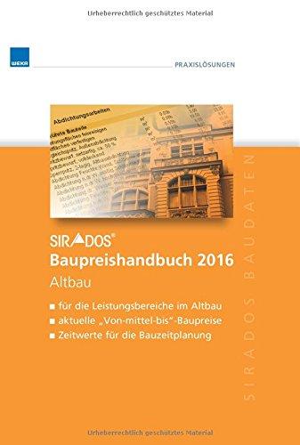 sirAdos Baupreishandbuch 2016: Altbau