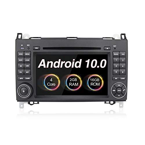 Reproductor de DVD para coche Android 9.0, GPS, pantalla táctil de 7 pulgadas, radio estéreo para Mercedes-Benz B200 A Clase B W169 W245 Viano Vito W639 Sprinter W906 (2+16G)