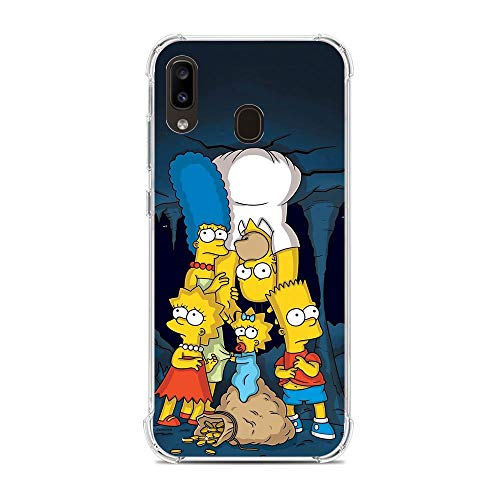 Soft Clear Shockproof Thin Durable Flexible Case for Samsung Galaxy A10e/A20e-The-Simpson Homer-Father 1