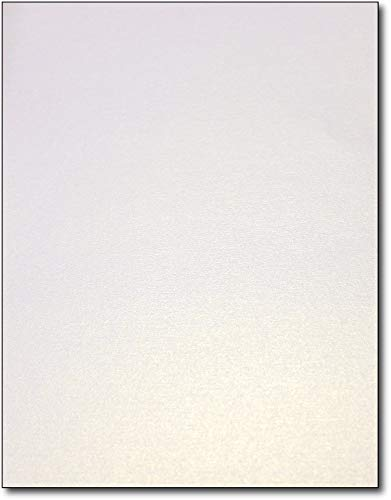 Thick 105lb Cover Pearl Metallic Shimmer Cardstock for Laser Printers & Copiers - 8 1/2' x 11' Paper - Pack of 20 Sheets