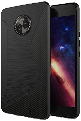 Moto X4 Case,SLMY(TM) Ultra [Slim Thin] Scratch Resistant TPU Rubber Soft Skin Silicone Protective Cases Cover for Motorola Moto X 4th Generation (2017)- Black