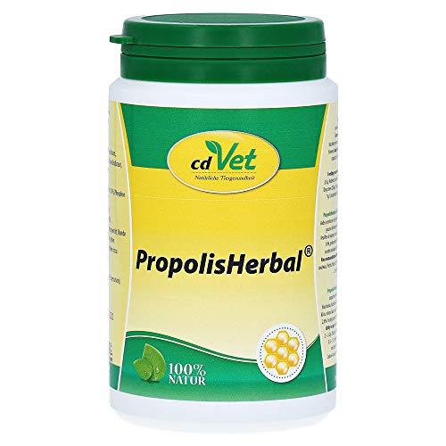 cdVet Naturprodukte PropolisHerbal 190 g - Hund, Katze, Kleintiere - Ergänzungsfuttermittel - Stärkung des Immunsystems + Vitalität für den Organismus - Vitaminversorger - Organunterstützung -