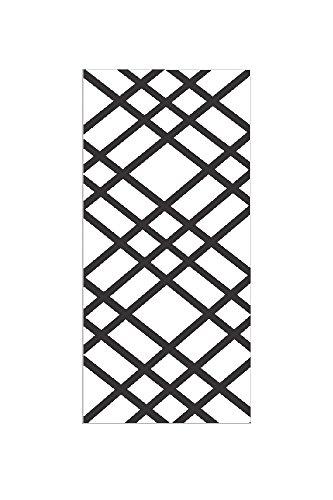 "Bulletin-Memo Board and Picture Frame: White and Black (Slim (9"" x 24""), Medium Black Ribbon)"