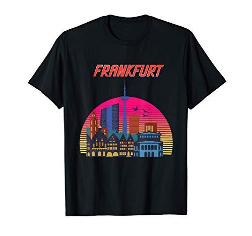 Frankfurt Retro Skyline | Frankfurt am Main T-Shirt