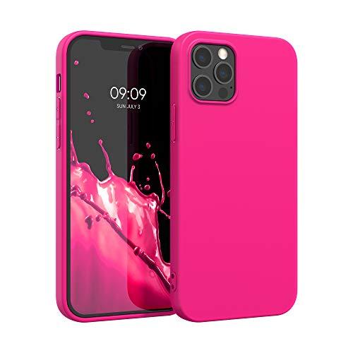 kwmobile Hülle kompatibel mit Apple iPhone 12 Pro Max - Hülle Handyhülle - Handy Hülle in Neon Pink