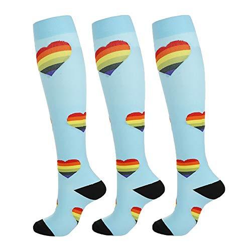 Kompressionsstrümpfe Sneaker Socken Herren Damen Laufsocken Sprunggelenkschutz und Mittel fußstütze für Laufen Radfahren Erholung Blutzirkulation 3 Paar