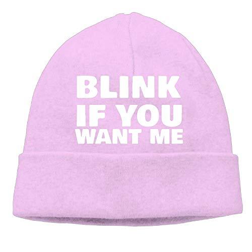Momen Blink If You Want Me Classic Street Dance Black Beanies Caps