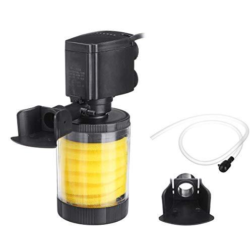 WhYlzh Aquariumfiltratie 10/20/25/30W 3-in-1 Aquarium binnenfilter aquarium watercircuit zuurstof filterpomp met vier zuignappen
