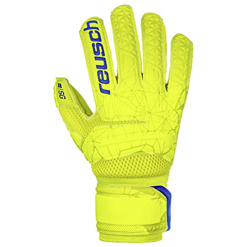 Reusch Fit Control SG Extra Finger Support Torwarthandschuh, Lime/Safety Yellow/Lime, 11