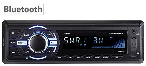 Creasono Autoradios: MP3-Autoradio mit Bluetooth, Freisprechfunktion, RDS, USB, SD, 4X 50 W (Autoradio DIN 1)