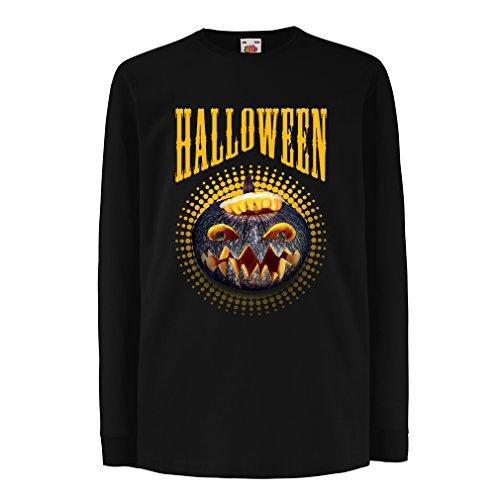 Camisetas de Manga Larga para Niño Calabaza de Halloween - Ideas del Traje del Partido 2017 (5-6 Years Negro Multicolor)