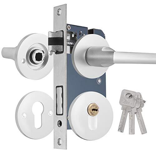 Deurkruk Hendel Lock, Ruimte Aluminium Indoor Beveiliging Slaapkamer Woonkamer Houten Deur Stille Lock voor Voordeur, Passage, Badkamer
