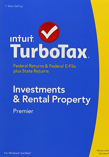 TurboTax 2014 Premier Investments and Real Estate Federal/State 2014 PC/MAC CD/DVD/Old Version