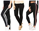 Fitg18® Gym wear Leggings Ankle Length Free Size Workout Trousers | Stretchable Striped