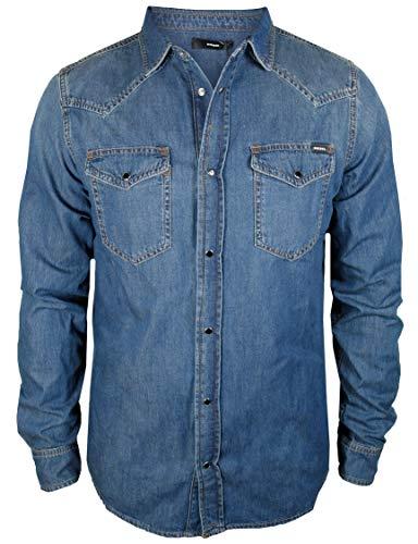 Diesel Herren Jeans Hemd New Sonora medium Blue Treated