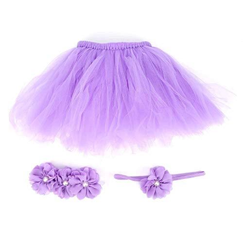 Wygodna, śliczna spódniczka dziecięca, sukienka fotograficzna dla noworodków, do makijażu na co dzień (Light Purple, Hundred days)