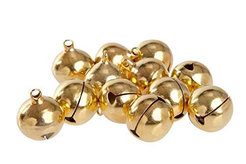 Kleenes Traumhandel 50 Laute goldene Glöckchen aus Kupfer - ca. 23x19 mm