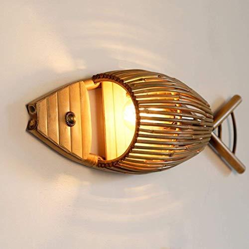 WY Lámpara de pared universal para restaurante con forma de pez, crea
